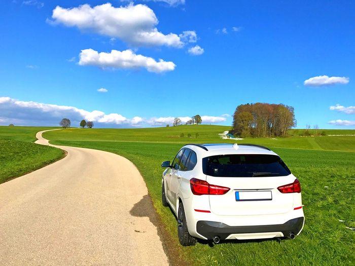 White Car Bmw