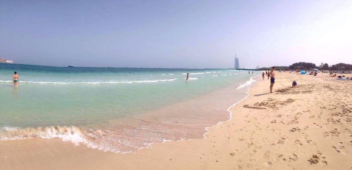 Secret Beach Dubai Beach Sea Burj Al Arab Relaxing Traveling Beautiful Eyem Best Shot - My World Blue Sky Taking Photos Theview Enjoying Life Hello World Beachphotography Dubai❤ Wave Beach Time Photography Dubaibeach