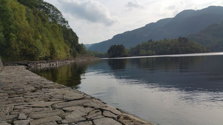 Loch Katrine, Scotland Beauty In Nature Calm Cloud Cloud - Sky Eye4photography  Learn & Shoot: Balancing Elements Eye Catching Idyllic Lake Lakeshore Landscape Mountain Mountain Range Nature No People Non-urban Scene Outdoors Remote Rippled Scenics Sky Tranquil Scene Tree Water Mobile Photography