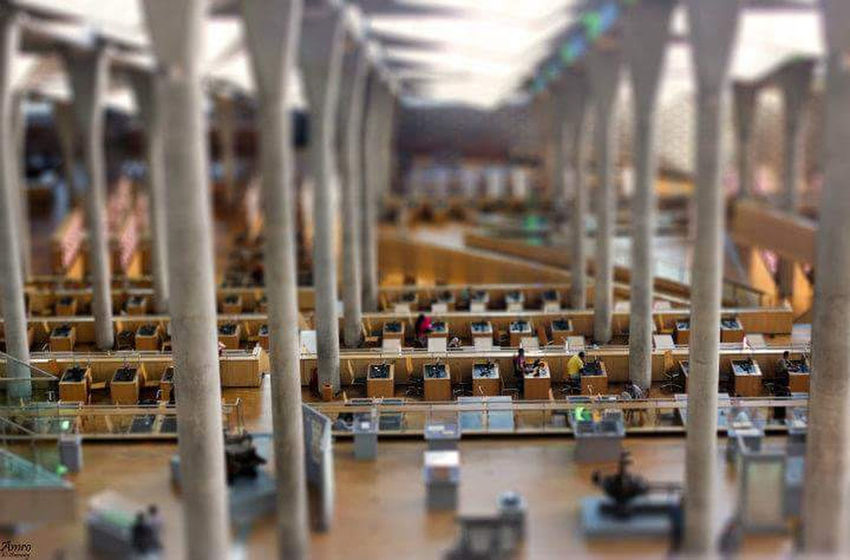Inside the Bibliotheca Alexandrina Abundance Business Finance And Industry Day Factory Indoors  Industrial Equipment Industry Library No People Production Line