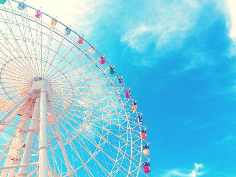 青春ってカンジ。 観覧車 青空 青春 Ferris Wheel Sky