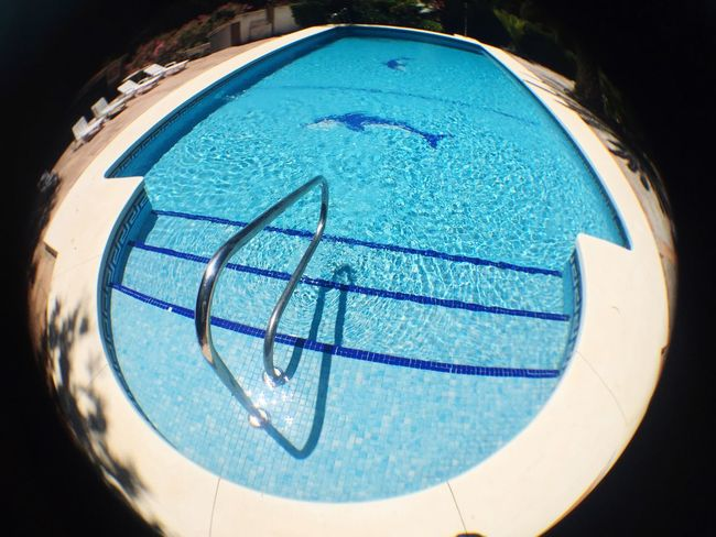 Summertime Summer Blue No People Nature Circle Geometric Shape Shape Close-up Day Water Low Angle View Round Directly Above Sunlight Swimming Pool Pool Turquoise Colored Design