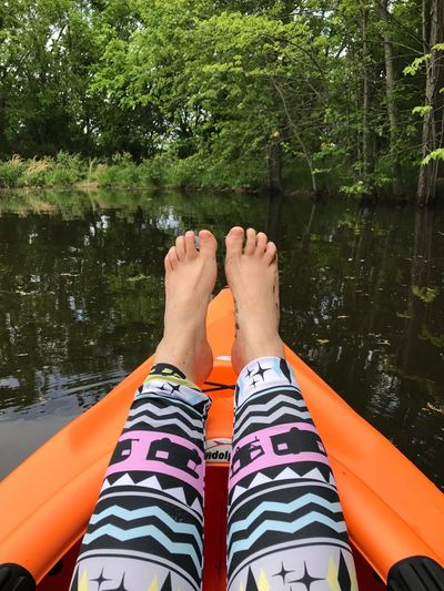 EyeEm Selects Kayak Personal Perspective Water Pond Barefoot
