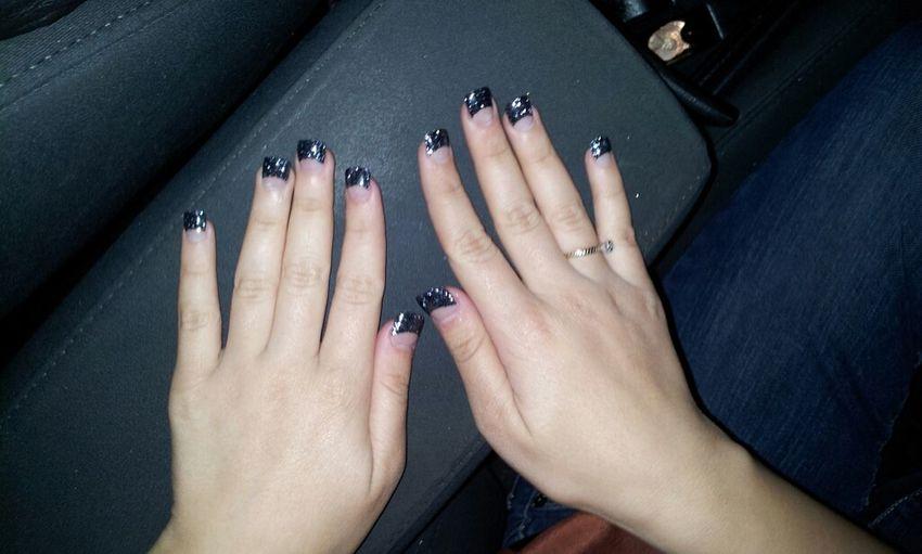my nails (':
