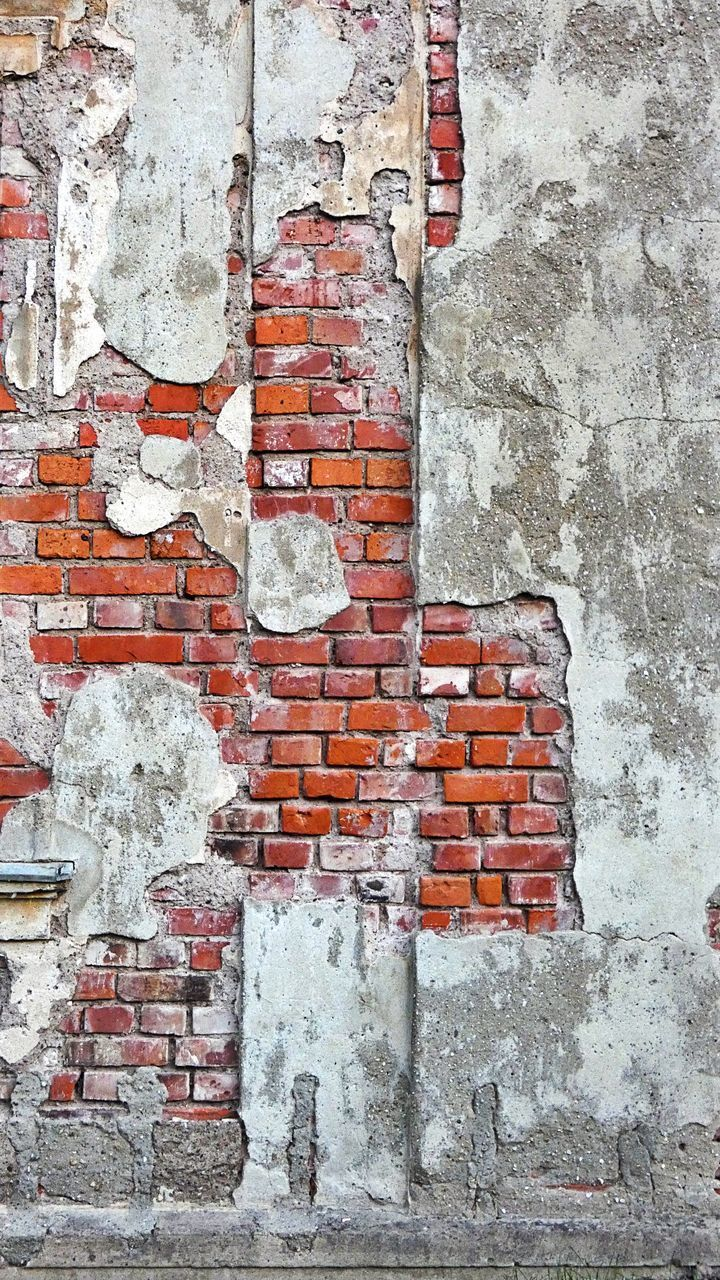 brick wall, wall - building feature, architecture, brick, built structure, wall, weathered, building exterior, damaged, no people, old, day, full frame, decline, deterioration, bad condition, outdoors, textured, backgrounds, run-down, concrete, ruined