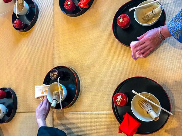 Tea ceremony Japanese Style Japanese Culture Japan Photography Tea Ceremony Tea Cup Food And Drink High Angle View Drink Directly Above Food Lifestyles Leisure Activity Refreshment