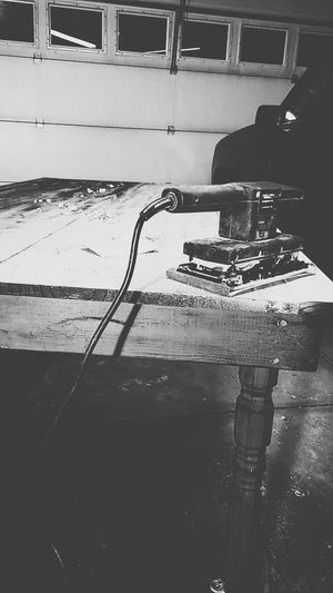 Indoors  No People Tools Wood - Material Wooden Woodworking Redo Updating Garage Door Mess Sanding Dusty Hobby