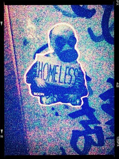 ‼️ Homeless ‼️ | Sticker / Stickerart / Streetart / Berlin Streetart / Street Art @ Treptow Ringcenter