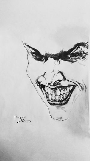 Artist Sketchbook Pencil Pen Art Black And White Paper Sketching ☺ Black And White Photography Featured Photo Featured Photographer Photography Doodle Sketch Ink Black Joker Jokerface Jokersmile EyeEmNewHere