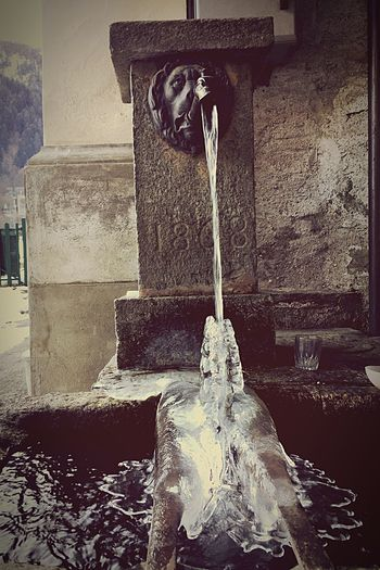 Ice Ice Crystals Ice Crystal Water Water_collection Water Fountain Mountain Winter Winter_collection Winter 2016 Winter Fountain Valsesia Piode Italy Mountain Village