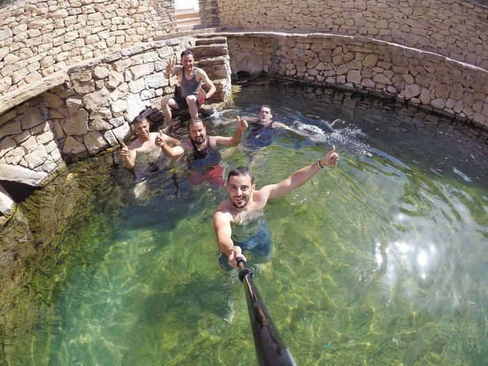 Libya Ghadames Ghadamis Spring Lake Water Swimming Swimming Pool Oldcity Snapseed Goprohero4 Enfras HeritageVillage Sunlight ☀ Libyan ليبيا غدامس