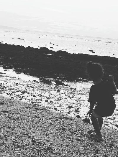 My kid playing in kupang beach😃😃😃😃 Child Standing Nature First Eyeem Photo