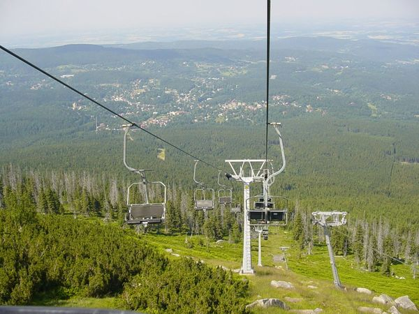 Beauty In Nature Day Nature No People Outdoors Overhead Cable Car Sea Ski Lift Sky Tree