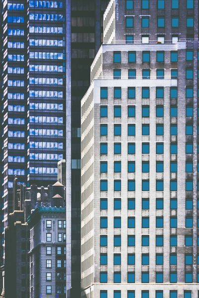 Architecture Building Exterior Built Structure Skyscraper Day Modern City Outdoors No People The Week On EyeEm Ladyphotographerofthemonth Streets Of New York Windows Abundance Squares Squares And Rectangles Squares And Lines Rectangles