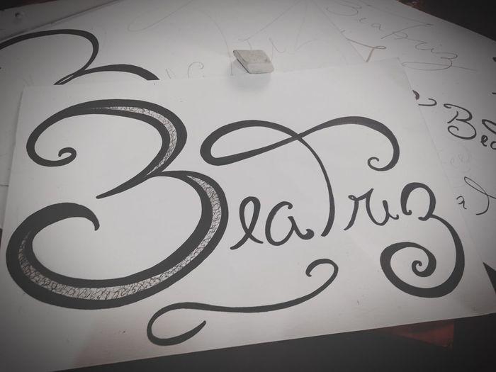 Tipography Name Black & White