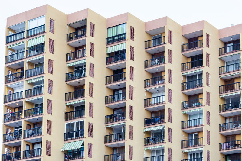 A block of holiday apartments.