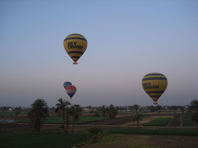 Egypt Hot Air Balloon Flight Valley Of The Kings Transportation Balloons Dawn Morning Light Morning Sky Flying Take Off