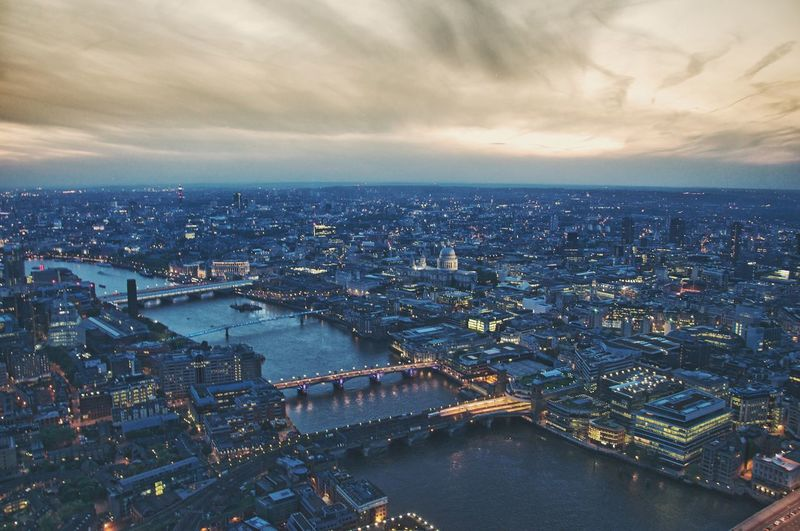 Cityscapes London View From The Shard Sunset Thames Aerial Shot Summer Seeing The Sights Landscapes With WhiteWall