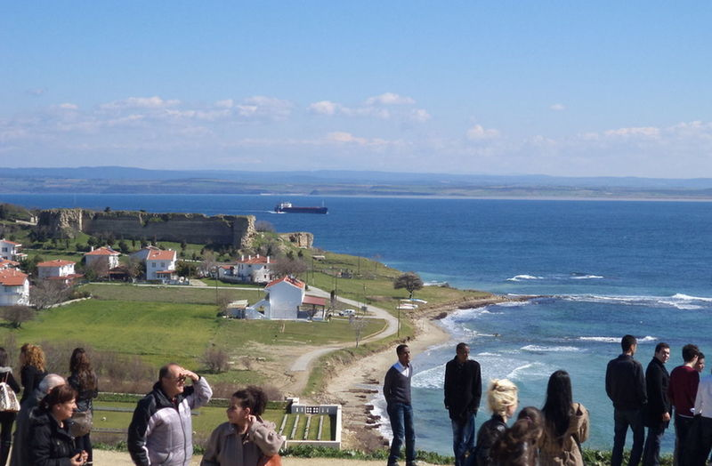 #away From Cemetery #away From Ship #deep Blue Sea #houses #sun  #people Turkey/ÇANAKKALE