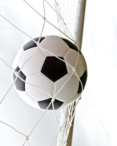 Ball Close-up Day Indoors  Low Angle View Net - Sports Equipment No People Scoring Sky Soccer Soccer Ball Soccer Field Sport