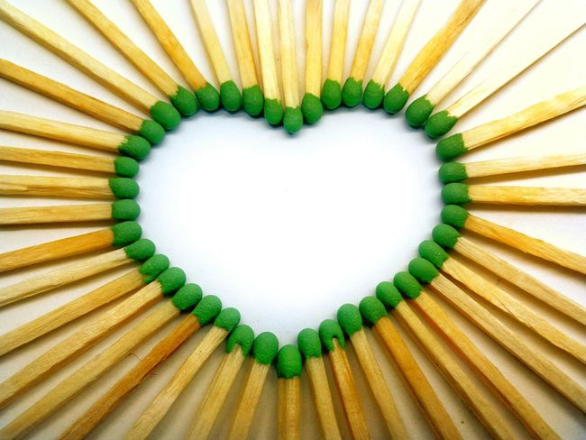Heart Match Matches Green Color Group Of Objects Close-up Concentric LeTv X600