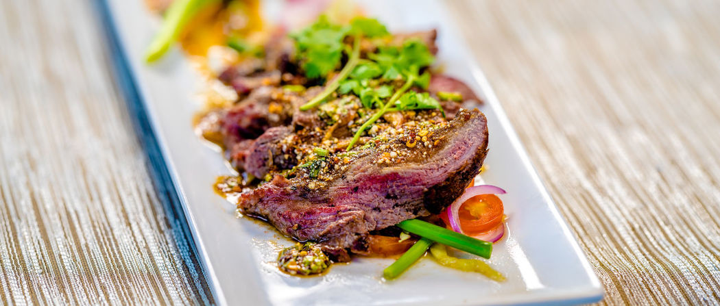 Beef Close-up Day Fine Dining Food Food And Drink Freshness Healthy Eating Indoors  Meat No People Plate Ready-to-eat Table Vegetable