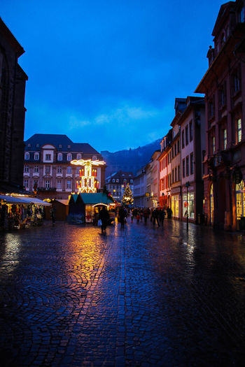 A chilly photo from the Heidelberg christmas market in Germany. Architecture Baden-Württemberg  Building Exterior Built Structure Chistmas Christmas Market City Heidelberg Heidelberg Germany Illuminated Light Light And Shadow Night Old Town Town