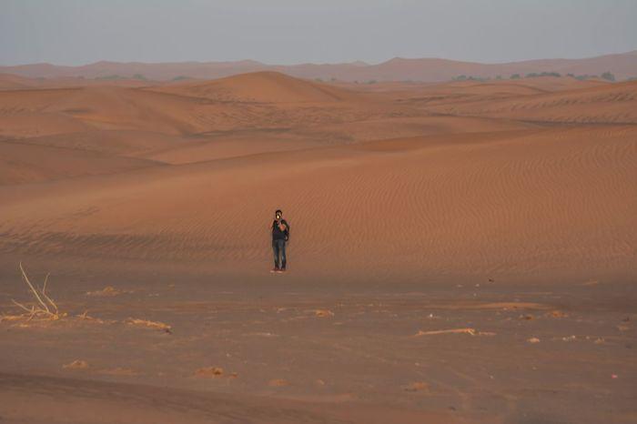 Desert photographer Desert Landscape Land Sand Scenics - Nature Sand Dune Environment Beauty In Nature One Person Mountain Nature