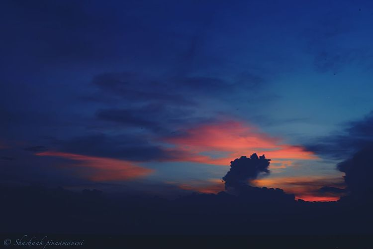 Beauty In Nature Sunset Sky Nature Cloud - Sky Orange Color Majestic Dramatic Sky Atmospheric Mood Scenics First Eyeem Photo