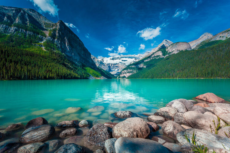 Lake Louise 10 am - Alberta Canada 17 July 2015 Lake Louise,Alberta Lake Louise  Lake View Mountain Sky Landscape Landscape_Collection Landscape_photography Wallpaper Backgrounds Background Nature Nature_collection Nature Photography Adventure Awesome View Amazing Freshness Fresh Rock - Object Water Lake Blue Sky Green Water Green Water Blue Sky