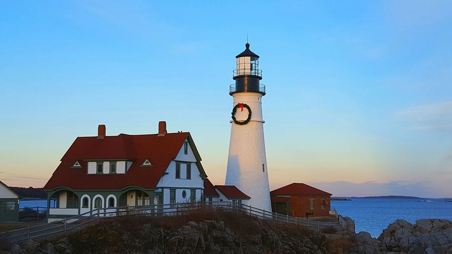 EyeEm Best Shots EyeEm Nature Lover Sunset Building Lighthouse Lighthouse_lovers Portland Head Light Portland Maine Winter Home Home Is Where The Art Is Architecture Travel Destinations Sea Sky Outdoors Sunset_collection Maine Lighthouses Of Maine The Week On Eyem Nature