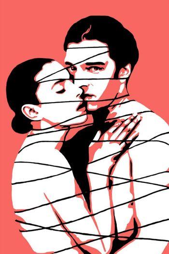 Pop Art Fall In Love ♡ Monica Belluci Vencant Cassel