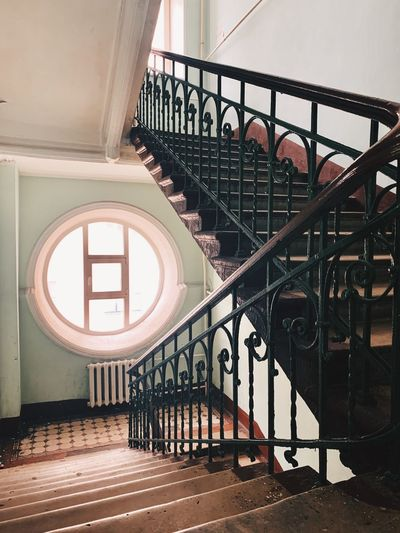 Spiral staircase of building