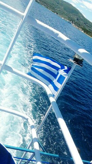 Greece Greek Flag Boat Sea Sea And Sky Waves Blue And White Likeforlike Like4like Sky White Blue