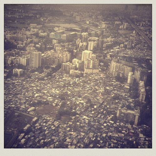 Mumbai from air as seen from 9w618 Jet Airways