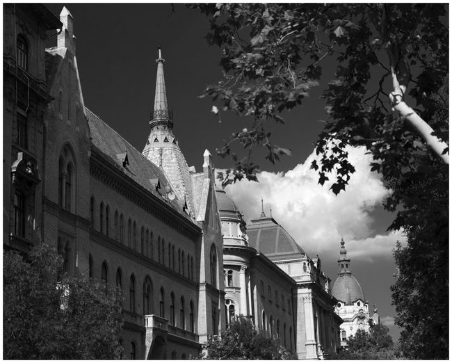 'Budapest Downtown' Budapest EyeEmNewHere Architecture Beautiful Town Black And White Building Domes Building Exterior Built Structure Cirruscloud The Architect - 2018 EyeEm Awards