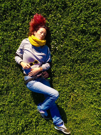 Laying On Grass