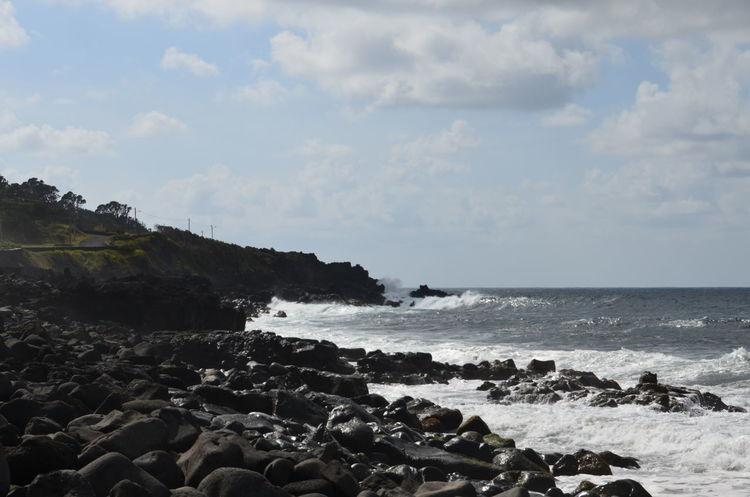 Atlantic Azores Açores Faial Faial Island Faja Beach Ocean Waves