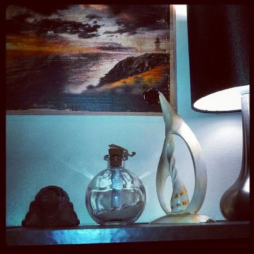 My reminders of home.. Messageinabottle Seashell Lighthouse Byronbay Truelove Turtle Pic Photooftheday L4l Pic Imissthis Family Sunset