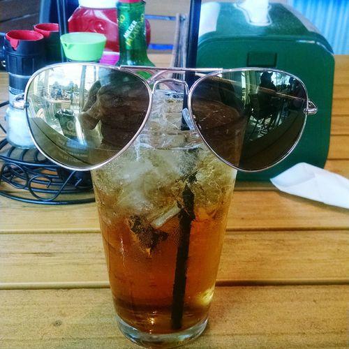 Ft Lauderdale Florida Sunglasses Relaxing Drinking Jackdaniels