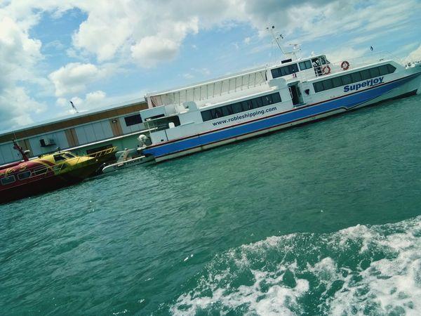 Ferryboat Cloud - Sky Ocean❤ Vessel In Port