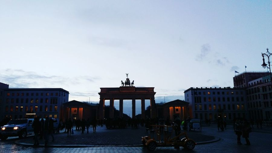 Architecture City Business Finance And Industry Built Structure Sky City Gate People Outdoors Politics And Government Brandenburgertor Berlin