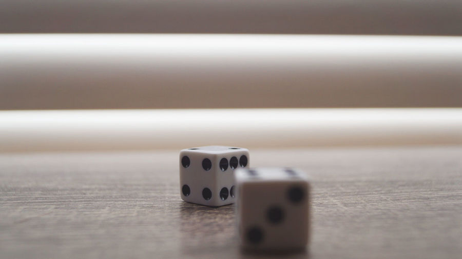 Chance Close-up Competition Day Dice Gambling Gambling Chip Indoors  Leisure Games Luck No People Table