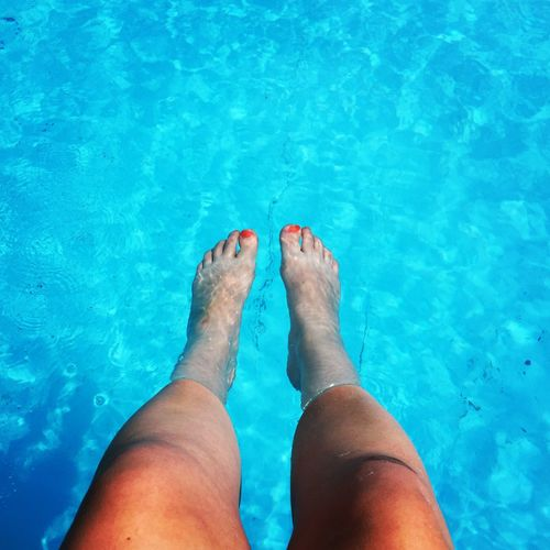Summer ☀ Feet Pinknails Swimming Pool