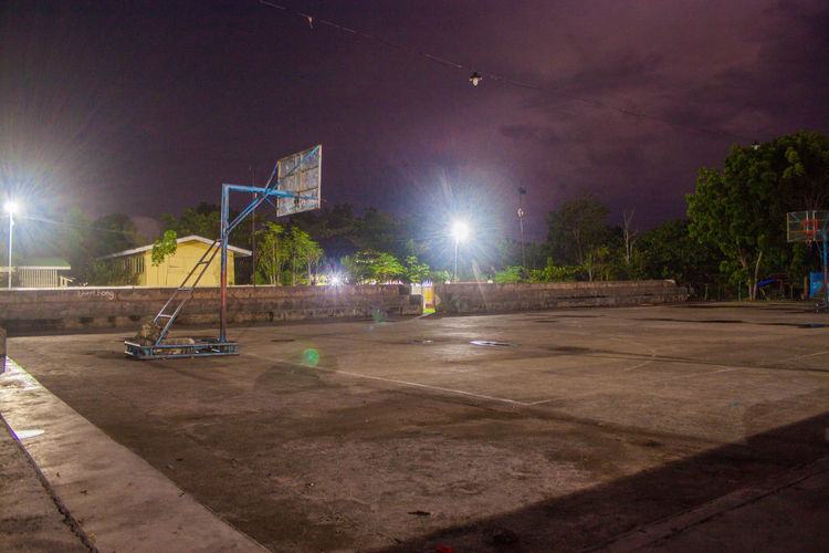 Stay healthy Basketball Court Beautiful Night Building Exterior Built Structure Cebu City Cebu City, Phlippines Court Illuminated Night Time In Medellin No People Outdoors Quiet Silent Night Sport Sports