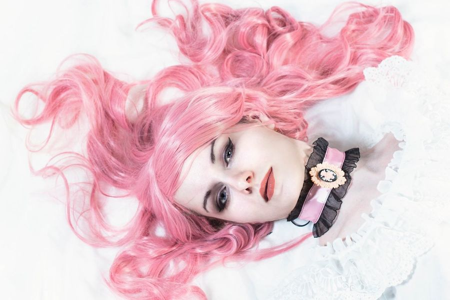 Chloë Noir EyeEm Selects Portrait Pink Color Beauty Fashion Pink Hair Arts Culture And Entertainment Beautiful People Make-up Pastel Colored People One Person Studio Shot Beautiful Woman One Woman Only Smiling Fashion Model