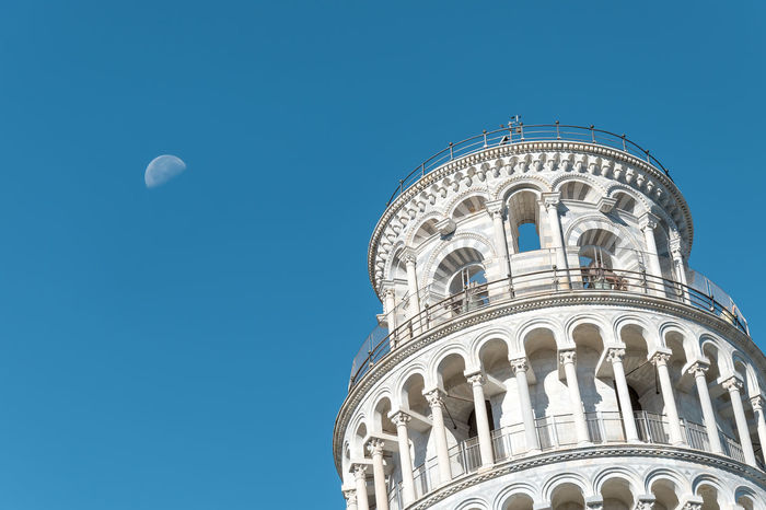 Moon Pisa Architecture Built Structure History Tower Tower Of Pisa Travel