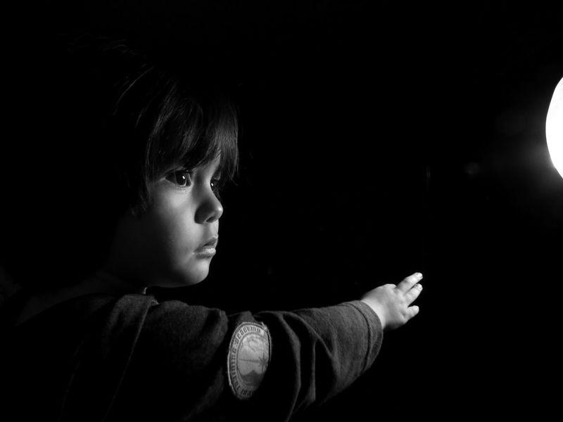 "Learn & Shoot: Single Light Source "" Reaching the stars..."" Model :, Leo, my friends son."