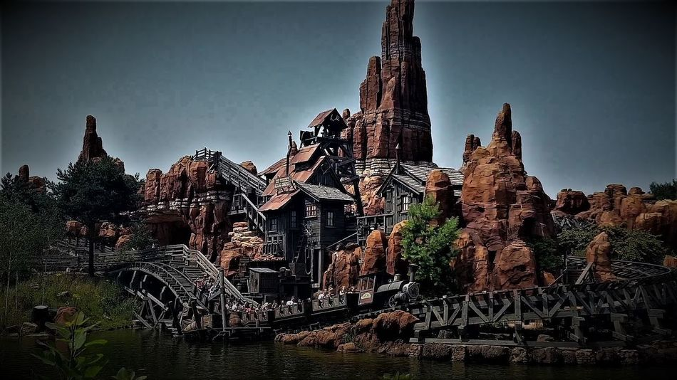 Disneyland Resort Paris 2017 2017 2017 Year 2017 Photo Big Thunder Mountain Railroad DLRP France Eurodisney Eurostar Destinations Rides And Attractions Tourist Attraction  Travel Travel Photography Architecture Big Thunder Mountain Big Thunder Mountain Railroad Building Exterior Built Structure Clear Sky Day History Outdoors Sky Travel And Tourism Travel Destinations Travelphotography Tree