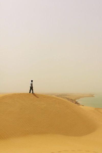 EyeEm Best Shots EyeEmNewHere EyeEm Selects Sand Dune Full Length Desert Arid Climate Beach Salt - Mineral Low Tide Sand Sunset Sea